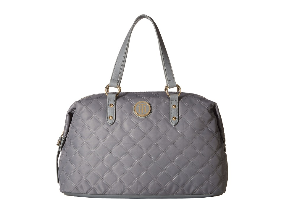 Tommy Hilfiger - TH Quilted - Bowler (Frost Gray) Handbags