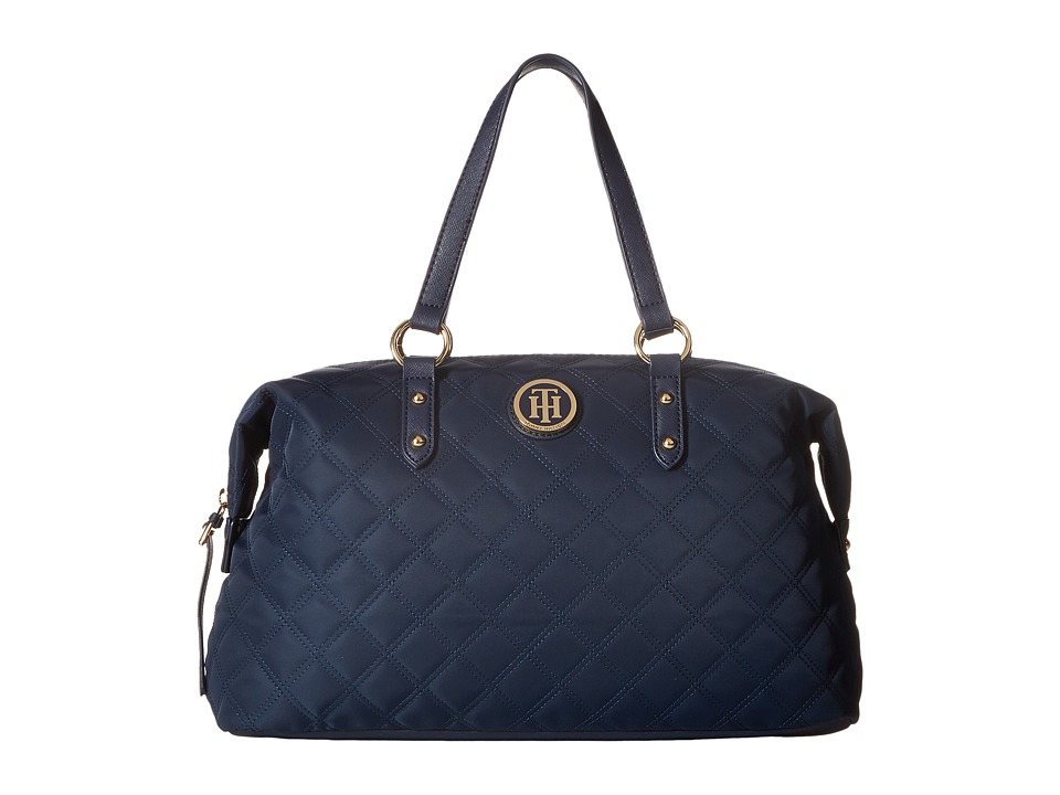 Tommy Hilfiger - TH Quilted - Bowler (Navy) Handbags