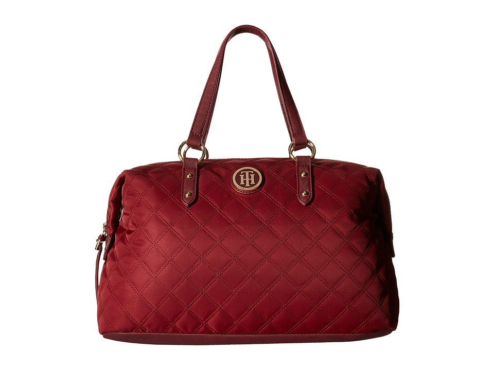 Tommy Hilfiger - TH Quilted - Bowler (Cabernet) Handbags