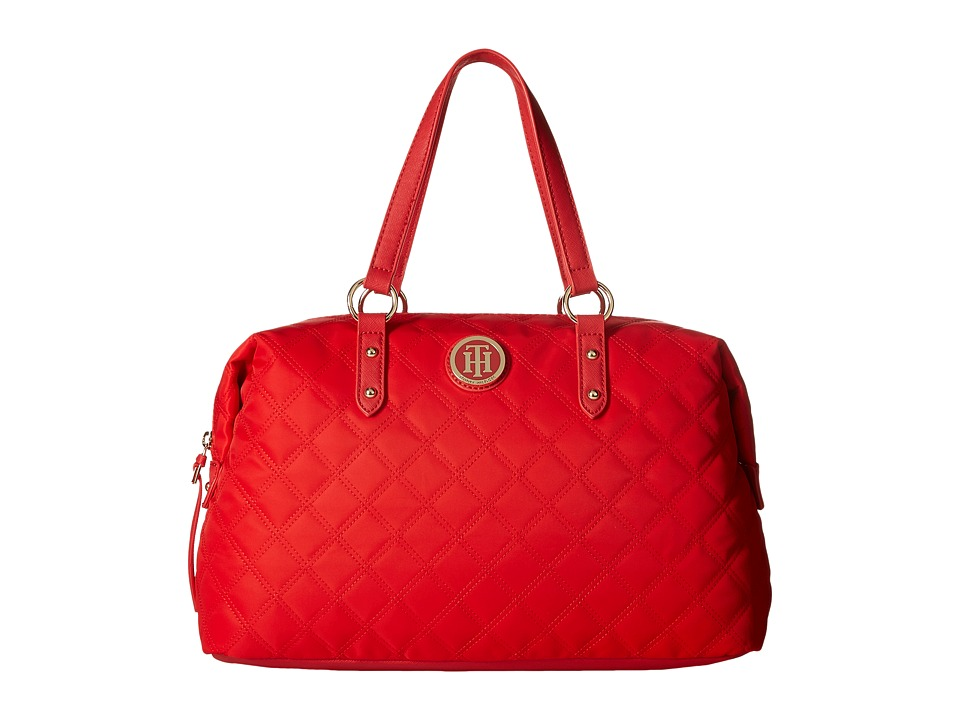 Tommy Hilfiger - TH Quilted - Bowler (Racing Red) Handbags