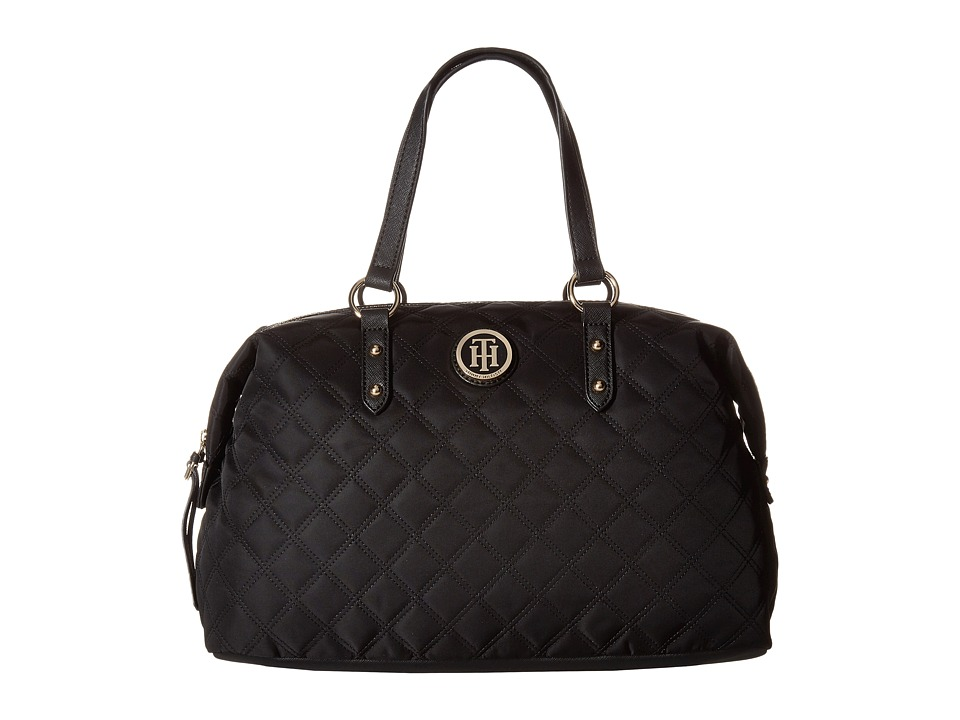 Tommy Hilfiger - TH Quilted - Bowler (Black) Handbags