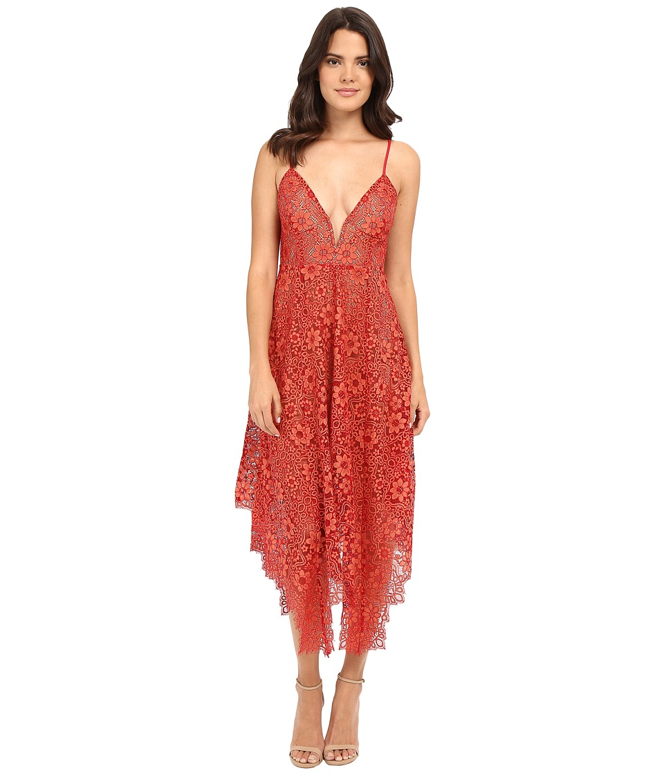 For Love and Lemons - Rosemary Midi Dress (Cherry) Women's Dress