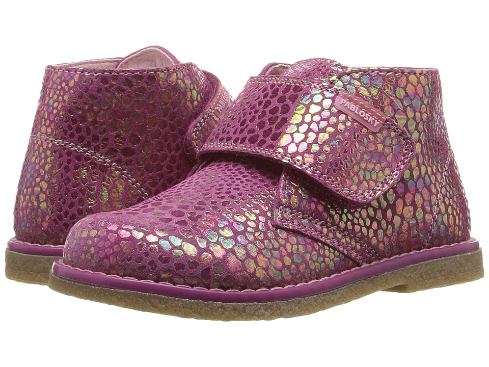 Pablosky Kids - 0951 (Toddler) (Pink Suede Metallic) Girl's Shoes