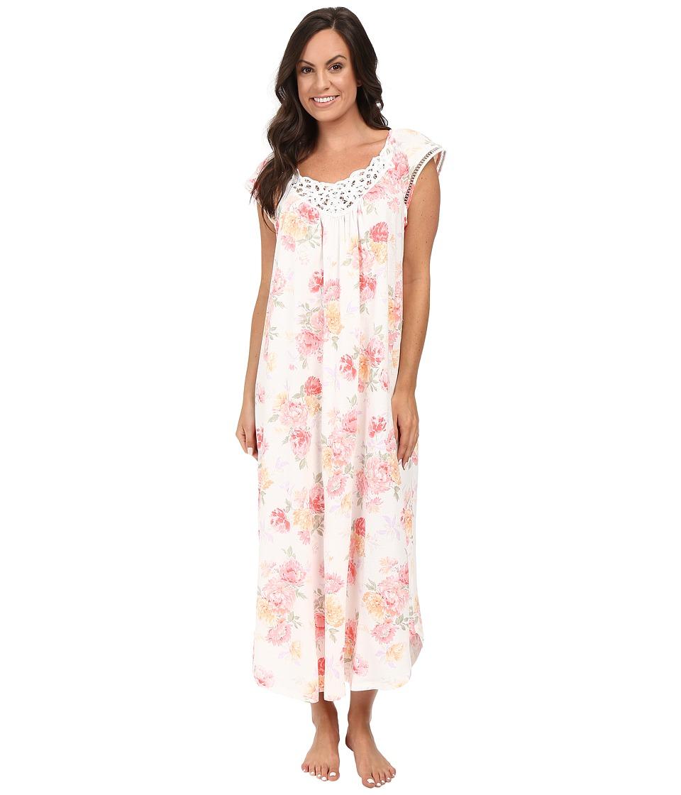 Carole Hochman - Long Gown (Brushstroke Floral) Women's Pajama
