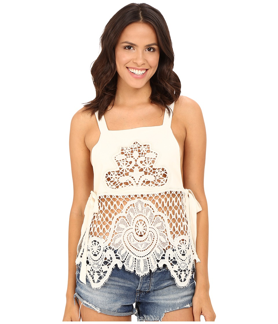 For Love and Lemons - Gracey Tank Top (Vintage Ivory) Women's Sleeveless