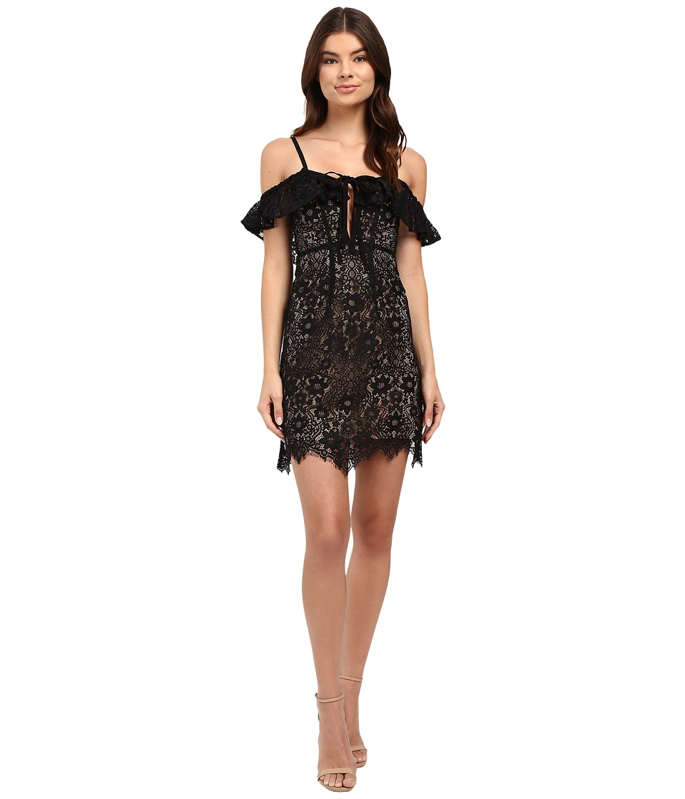 For Love and Lemons - Rosemary Mini Dress (Black) Women's Dress