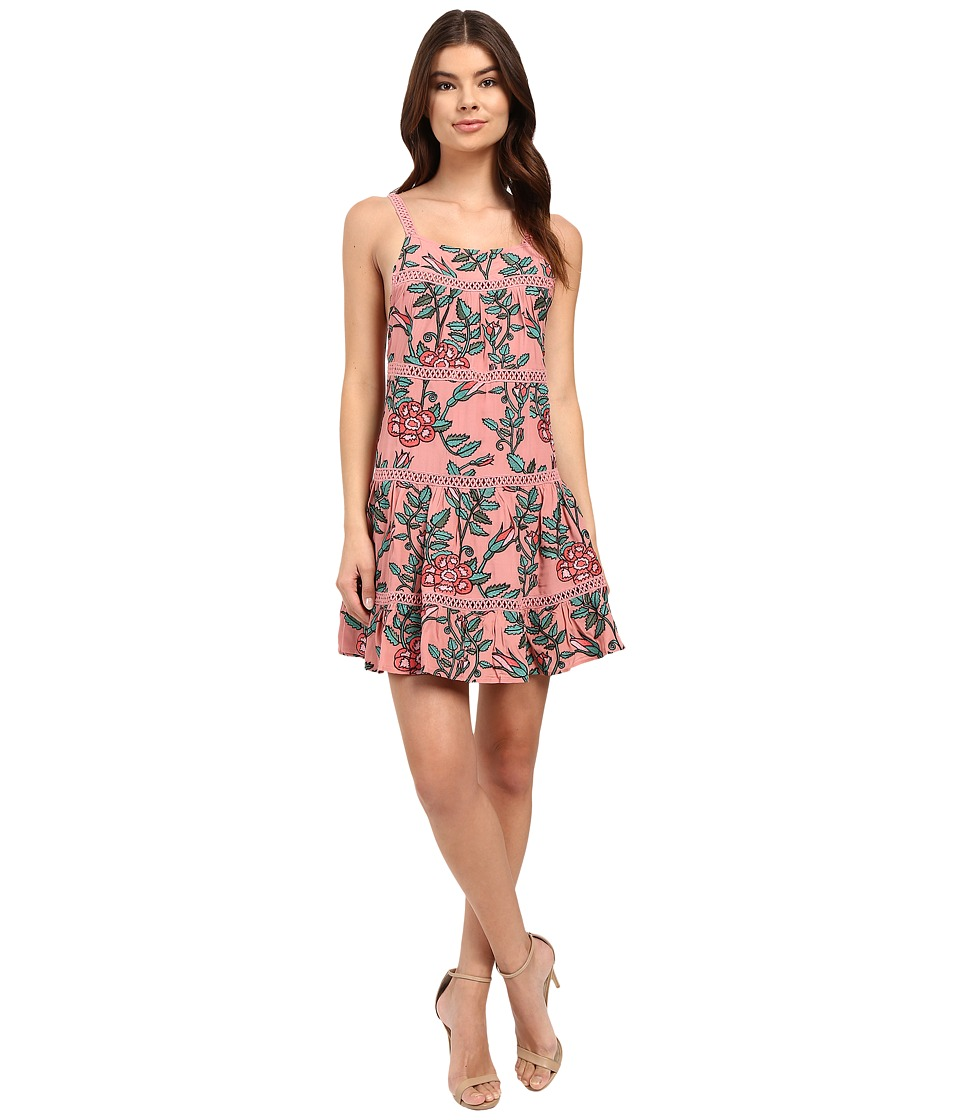 For Love and Lemons - Rosali Tank Dress (Mauve Floral) Women's Dress