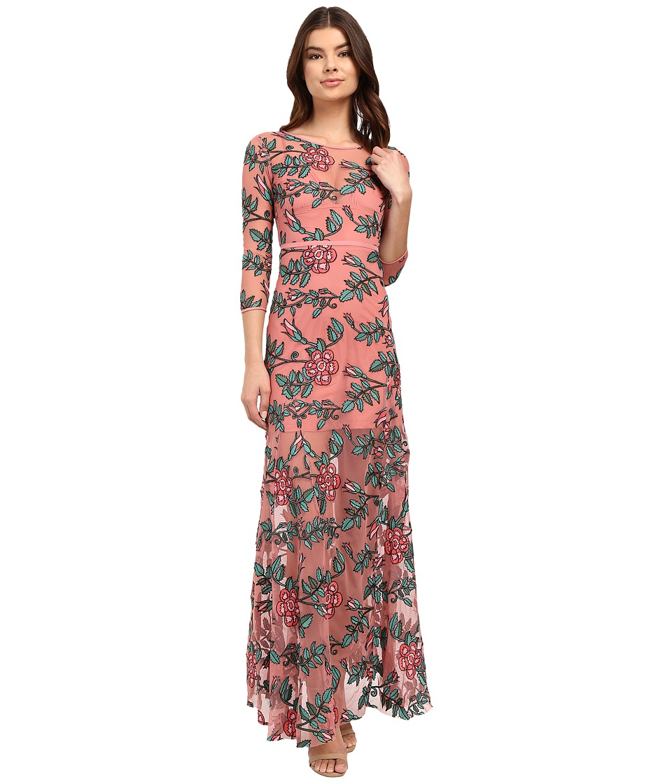 For Love and Lemons - Rosali Maxi Dress (Mauve Floral) Women's Dress