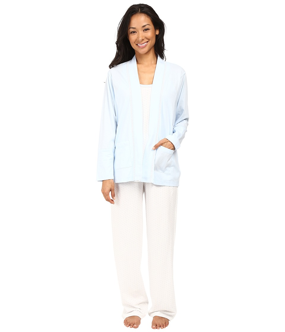 Carole Hochman - Three-Piece Pajama Set (Blue Dot) Women's Pajama Sets