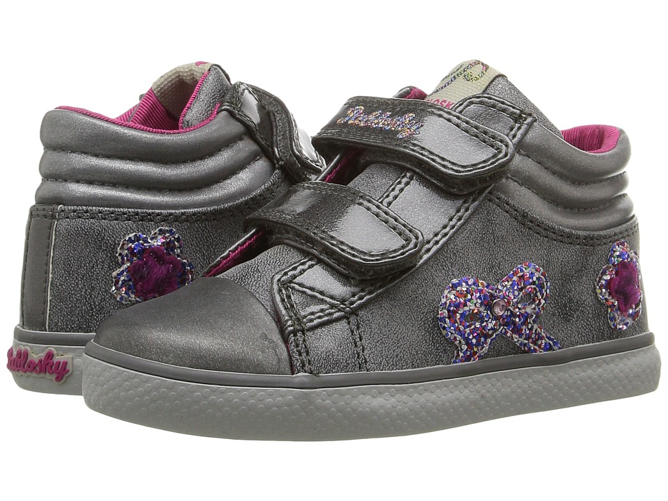 Pablosky Kids - 9368 (Toddler) (Grey) Girl's Shoes