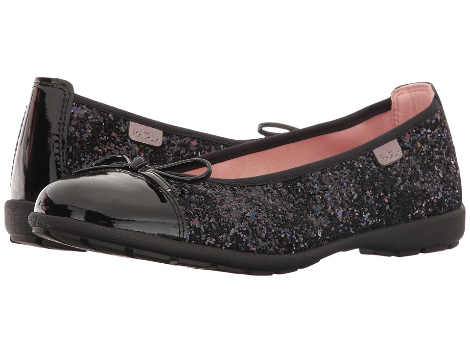 Pablosky Kids - 8170 (Little Kid/Big Kid) (Black Patent/Glitter) Girl's Shoes