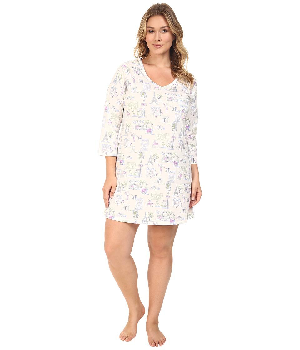 Carole Hochman - Plus Size 3/4 Sleeve Novelty Print Sleepshirt (Park) Women's Pajama