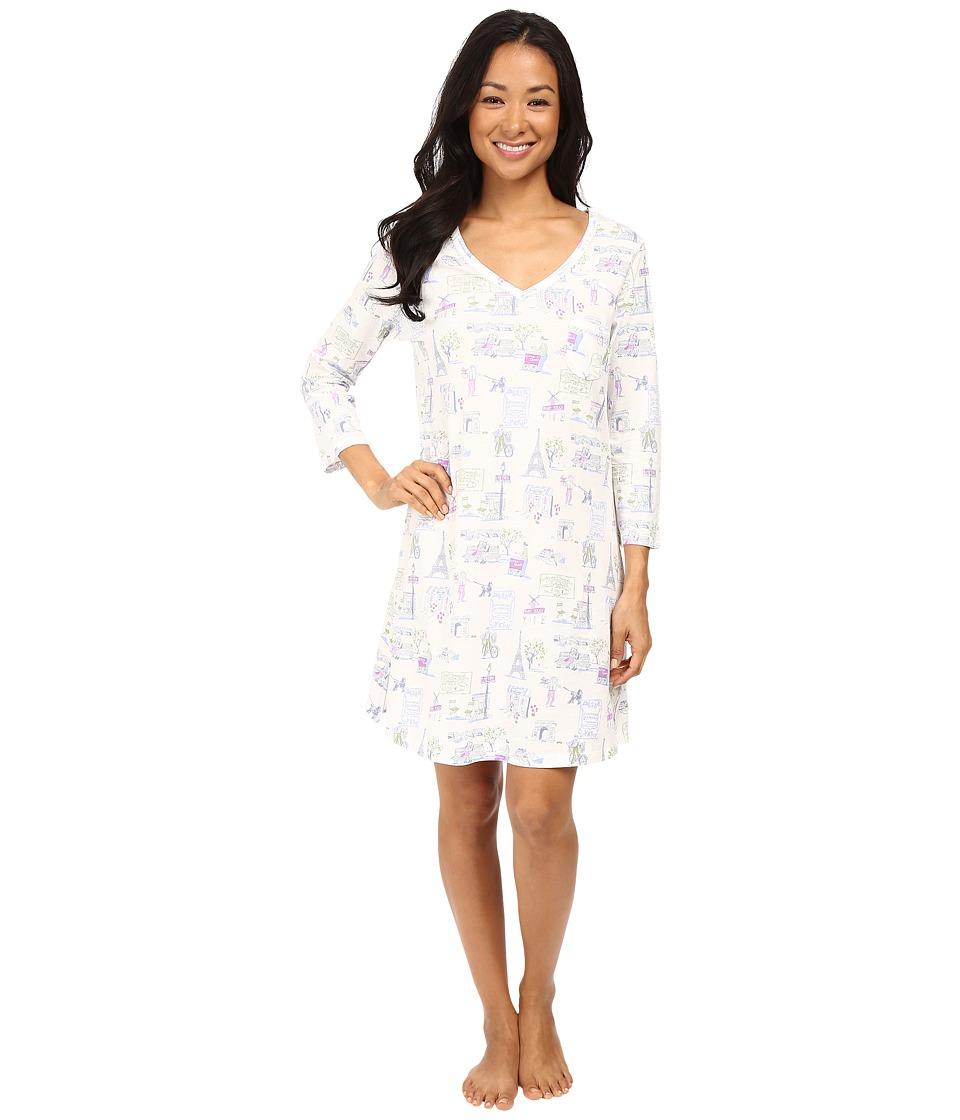Carole Hochman - 3/4 Sleeve Novelty Print Sleepshirt (Park) Women's Pajama