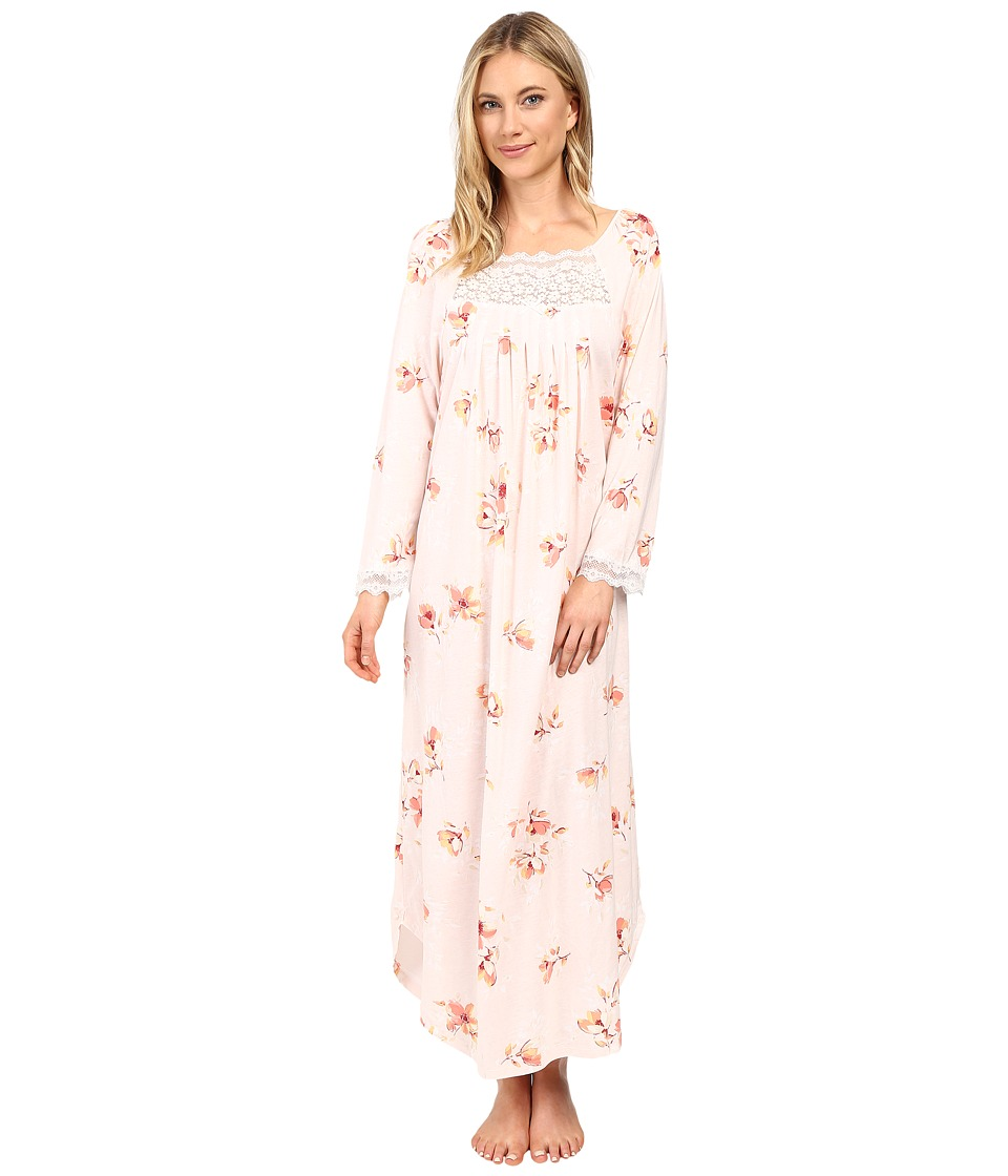 Carole Hochman - Floral Long Sleeve Gown (Painted Floral) Women's Pajama