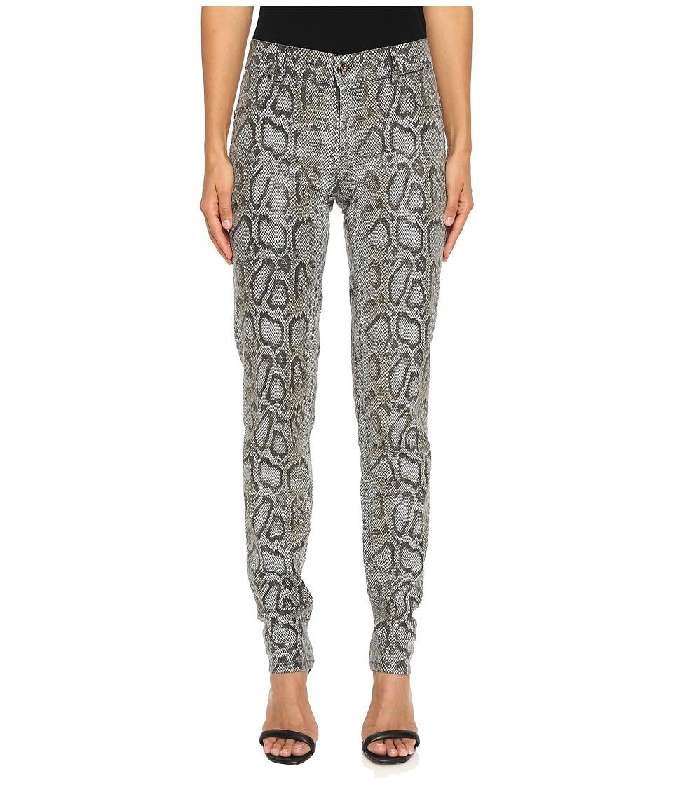 Versace Jeans - Snake Printed Skinny Pants (Grigio Medio) Women's Jeans