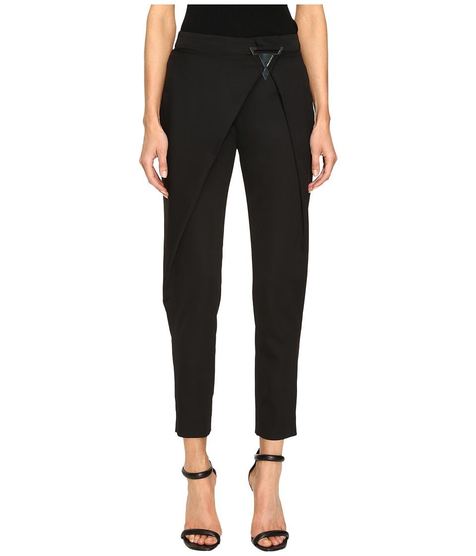 Versace Jeans - Draped Open Pants (Nero) Women's Casual Pants