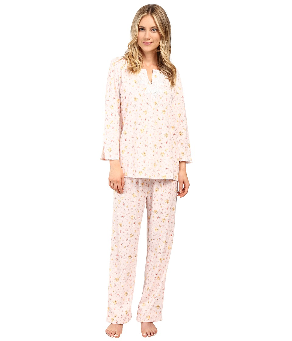 Carole Hochman - Pajama with Venise Trim (Ditsy) Women's Pajama Sets