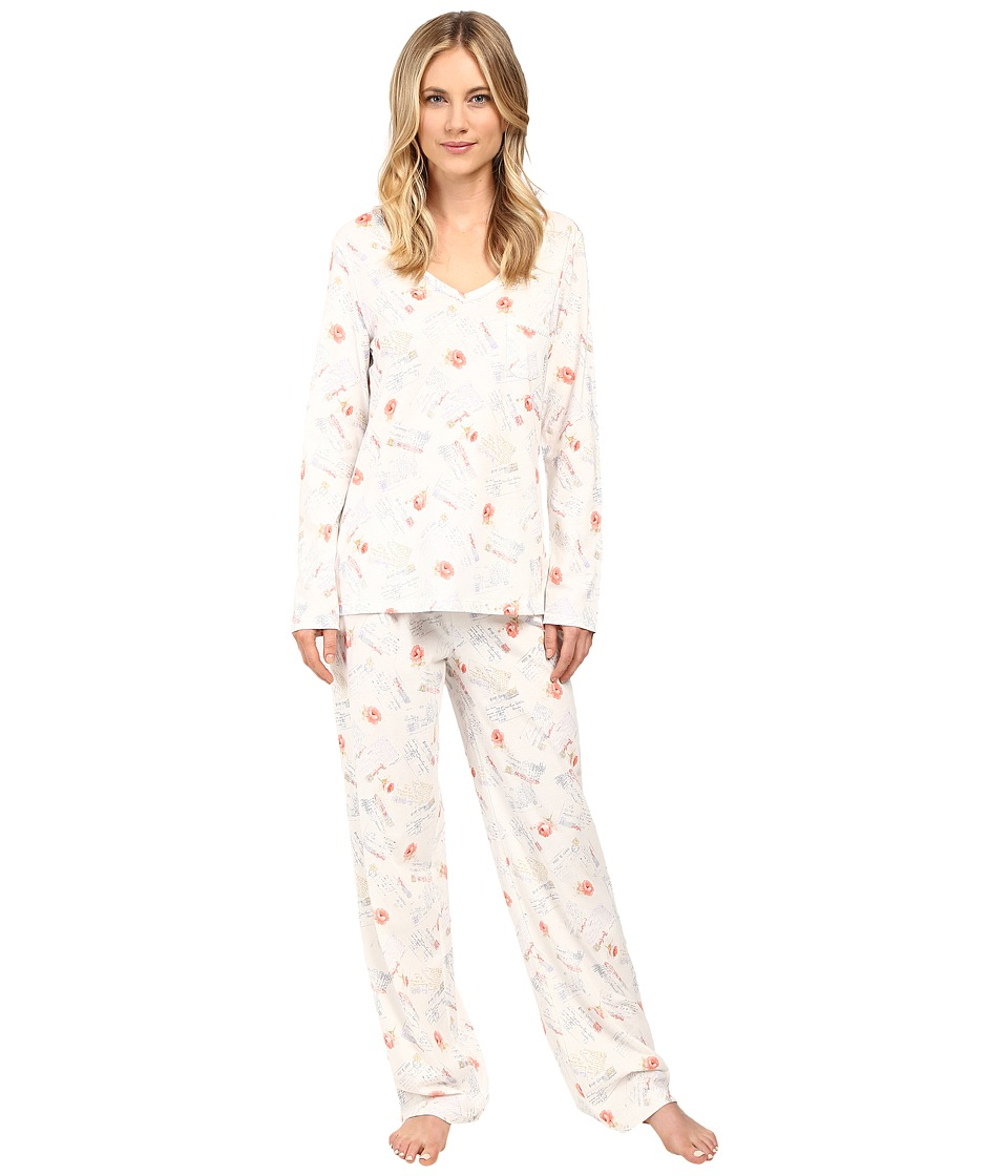 Carole Hochman - Long Sleeve Novelty Print Pajama (Love) Women's Pajama Sets