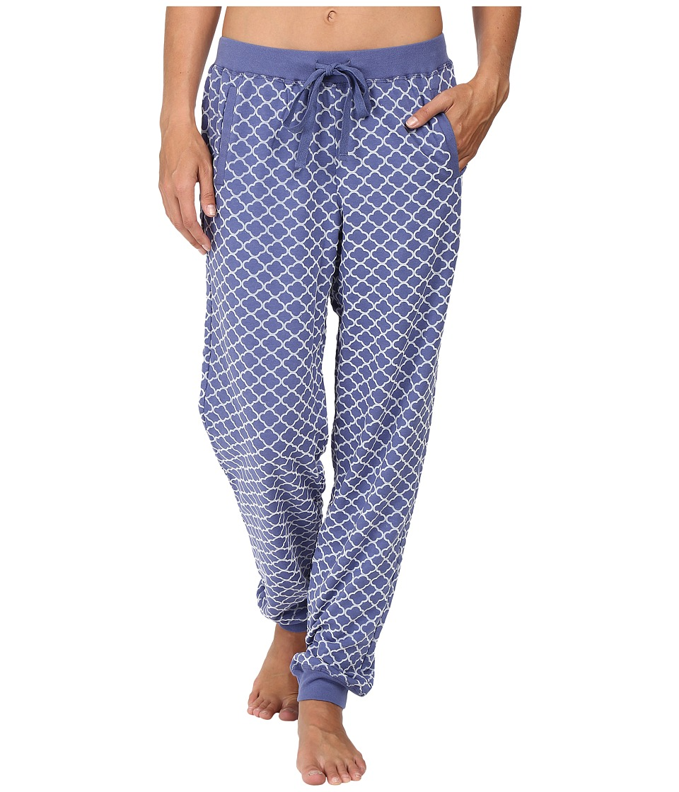 Carole Hochman - Jogger Style Pants with Flocking (Blue Medallions) Women's Pajama