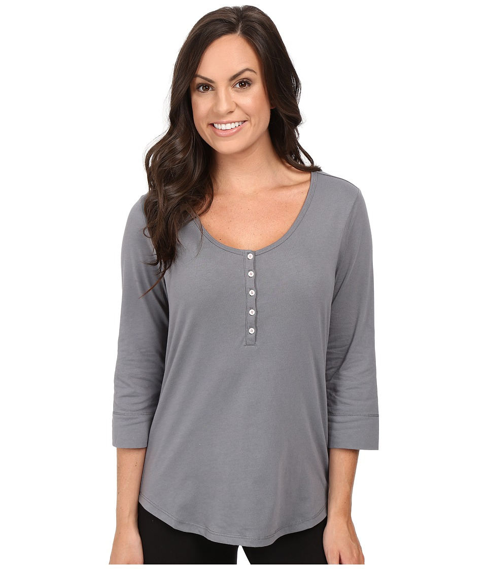 Jockey - 3/4 Sleeve Top (Dark Grey) Women's Pajama