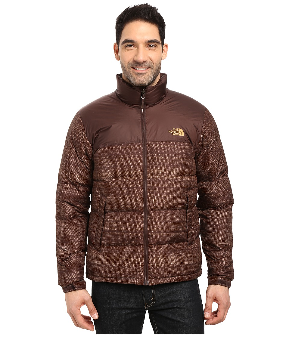 The North Face Nuptse Jacket (Coffee Bean Brown Twitch Print/Coffee Bean Brown (Prior Season)) Men