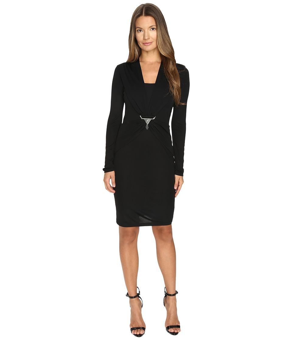 Versace Jeans Long Sleeve Baroque Dress (Nero) Women