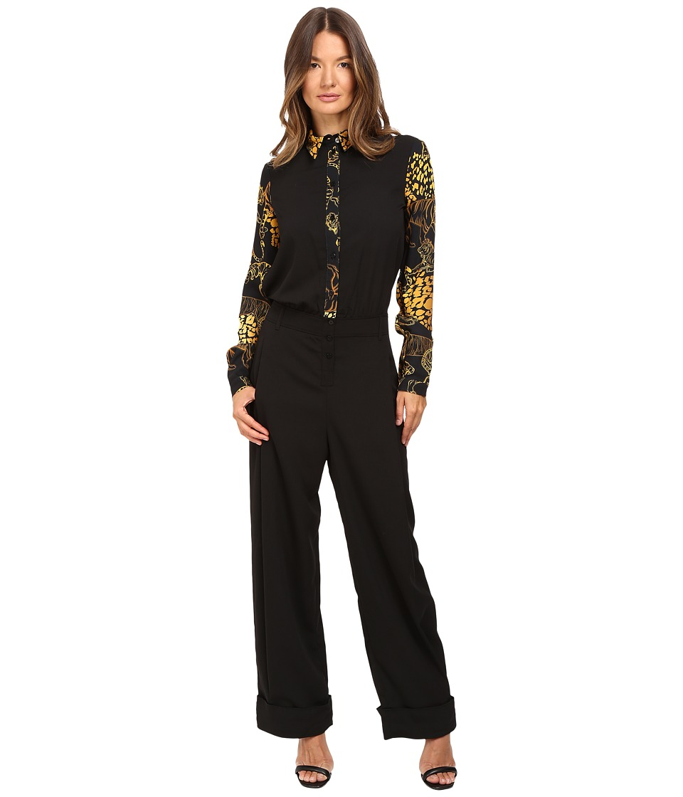 Versace Jeans Long Sleeve Jumpsuit Nero Dress