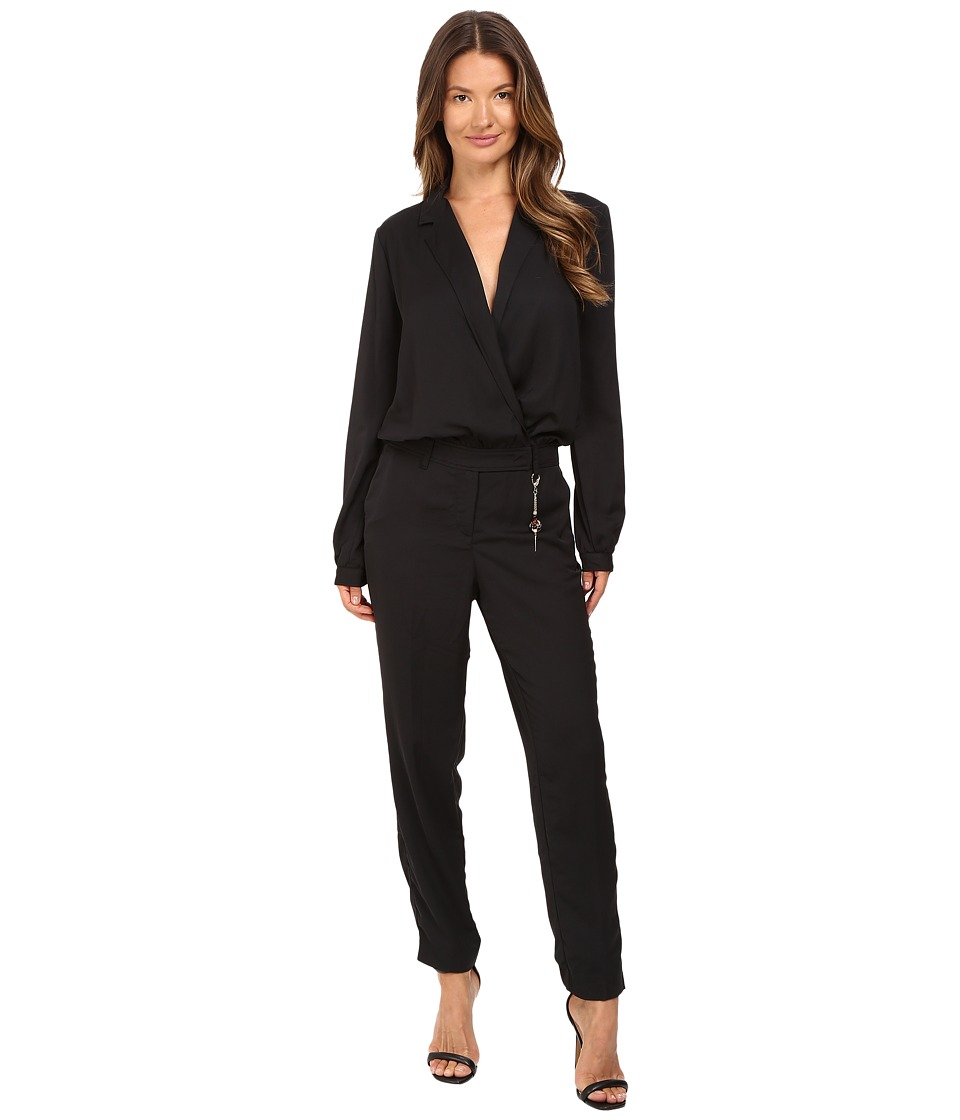 Versace Jeans - Long Sleeve Side Chain Jumpsuit (Nero) Women's Jumpsuit & Rompers One Piece