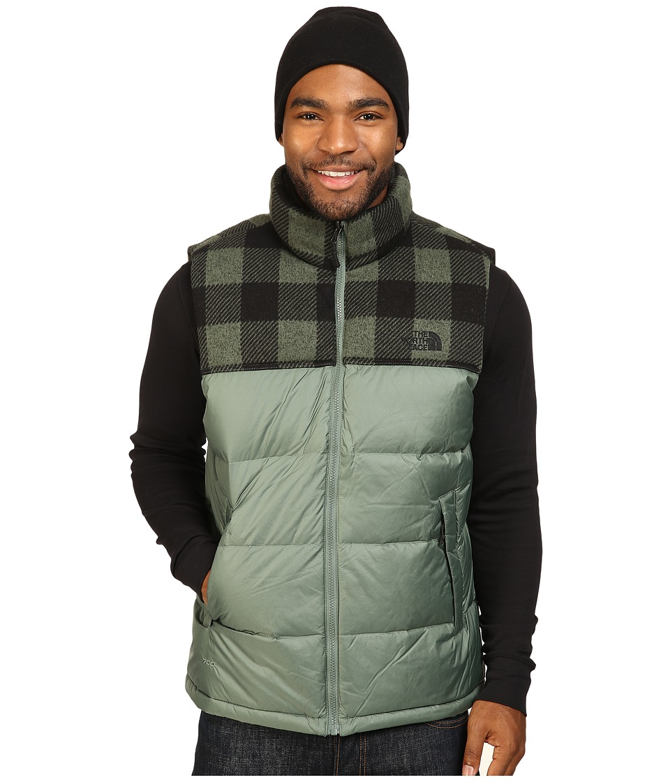 The North Face - Nuptse Vest (Duck Green/Duck Green Grizzly Print) Men's Vest