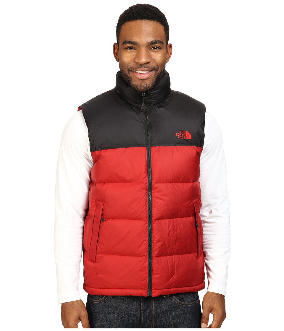 The North Face Nuptse Vest (Cardinal Red/TNF Black) Men