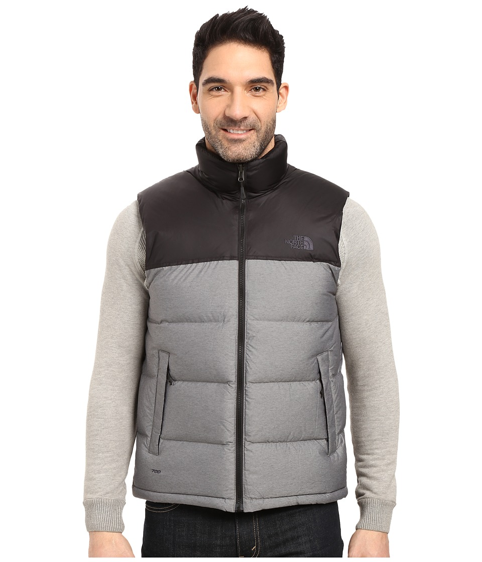 The North Face Nuptse Vest (TNF Medium Grey Heather/TNF Black (Prior Season)) Men