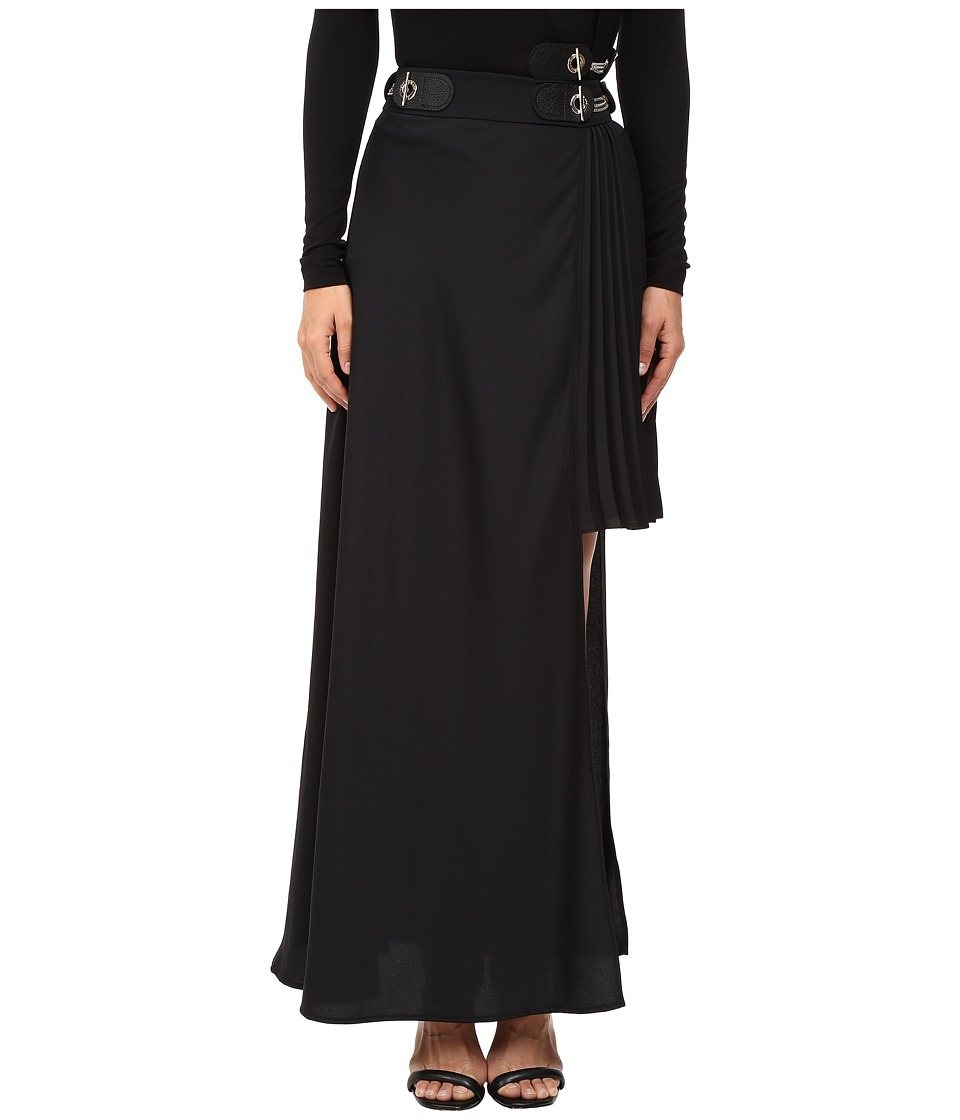 Versace Jeans - Long Asymmetrical Side Skirt (Nero) Women's Skirt