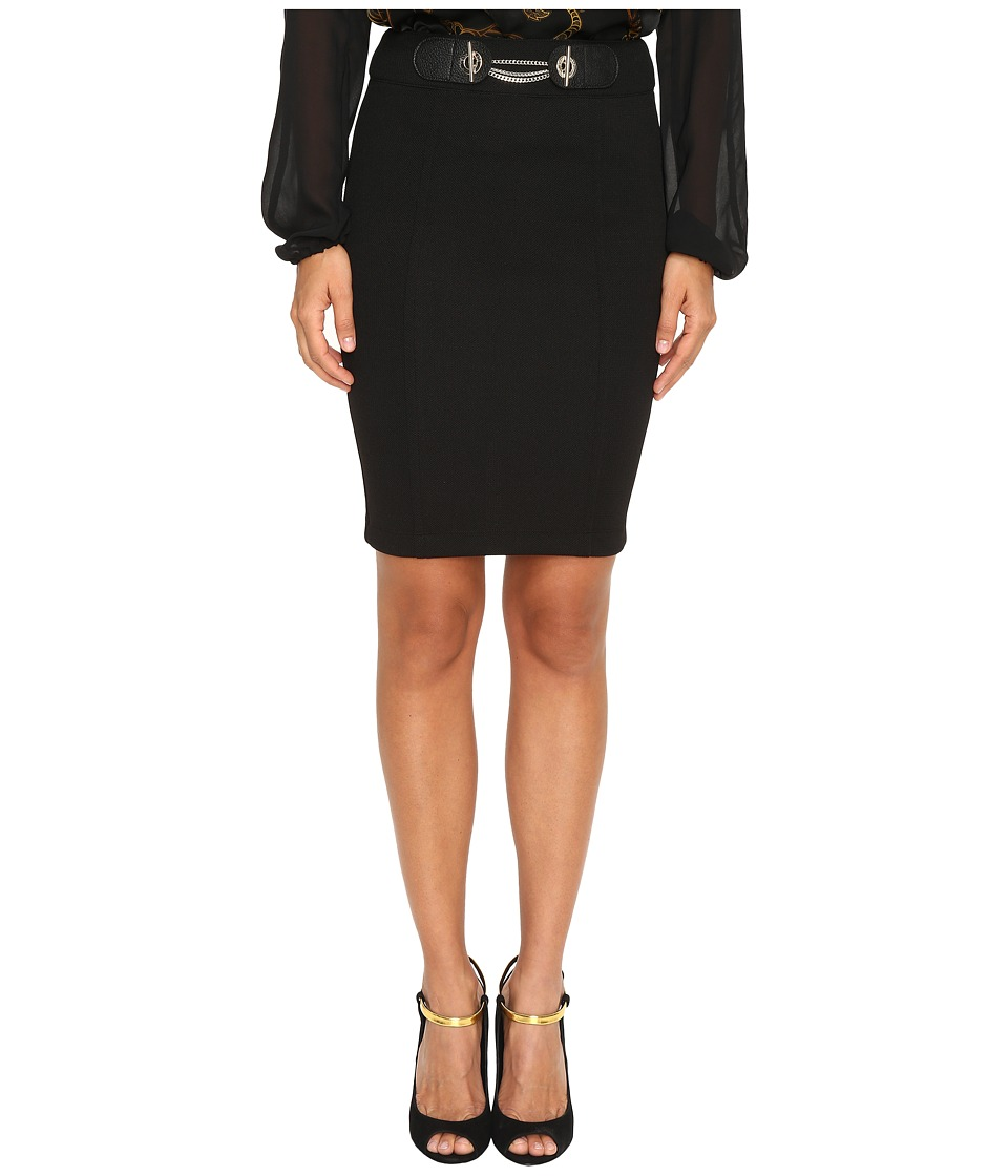 Versace Jeans - Pencil Skirt with Chain (Nero) Women's Skirt