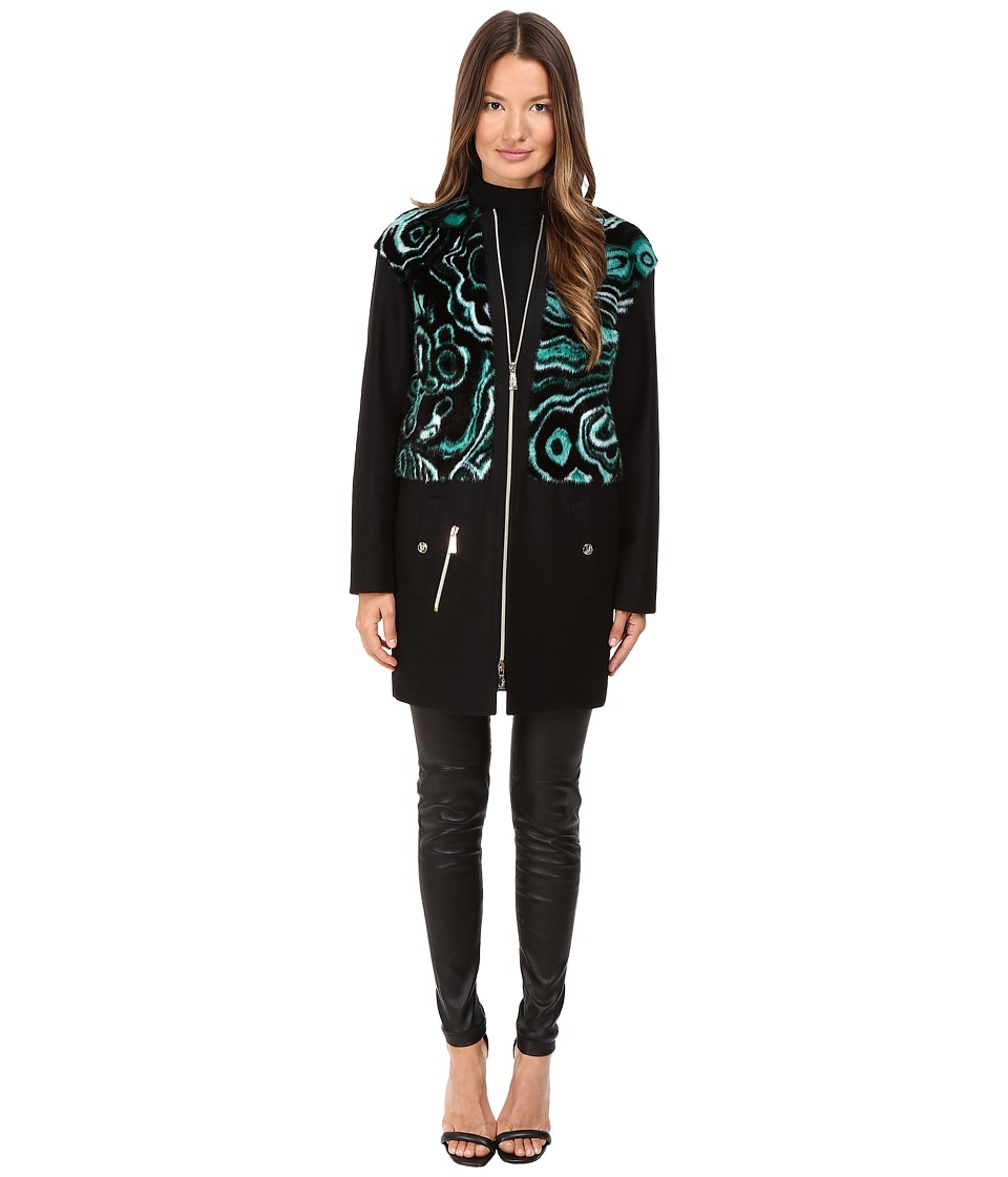 Versace Jeans - Liquid Fur Wool Zip Jacket (Foresta) Women's Coat