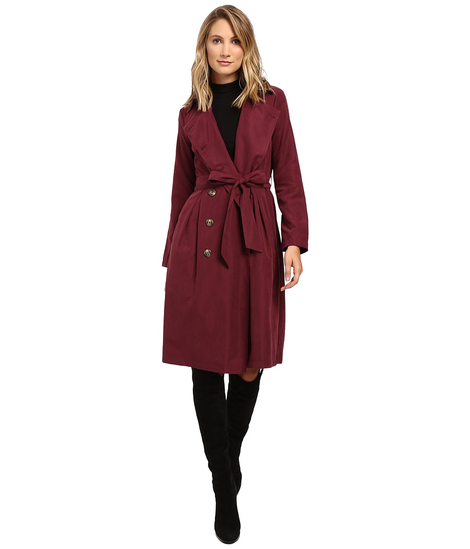 Jack by BB Dakota - Wellington Coat (Dark Plum) Women's Coat