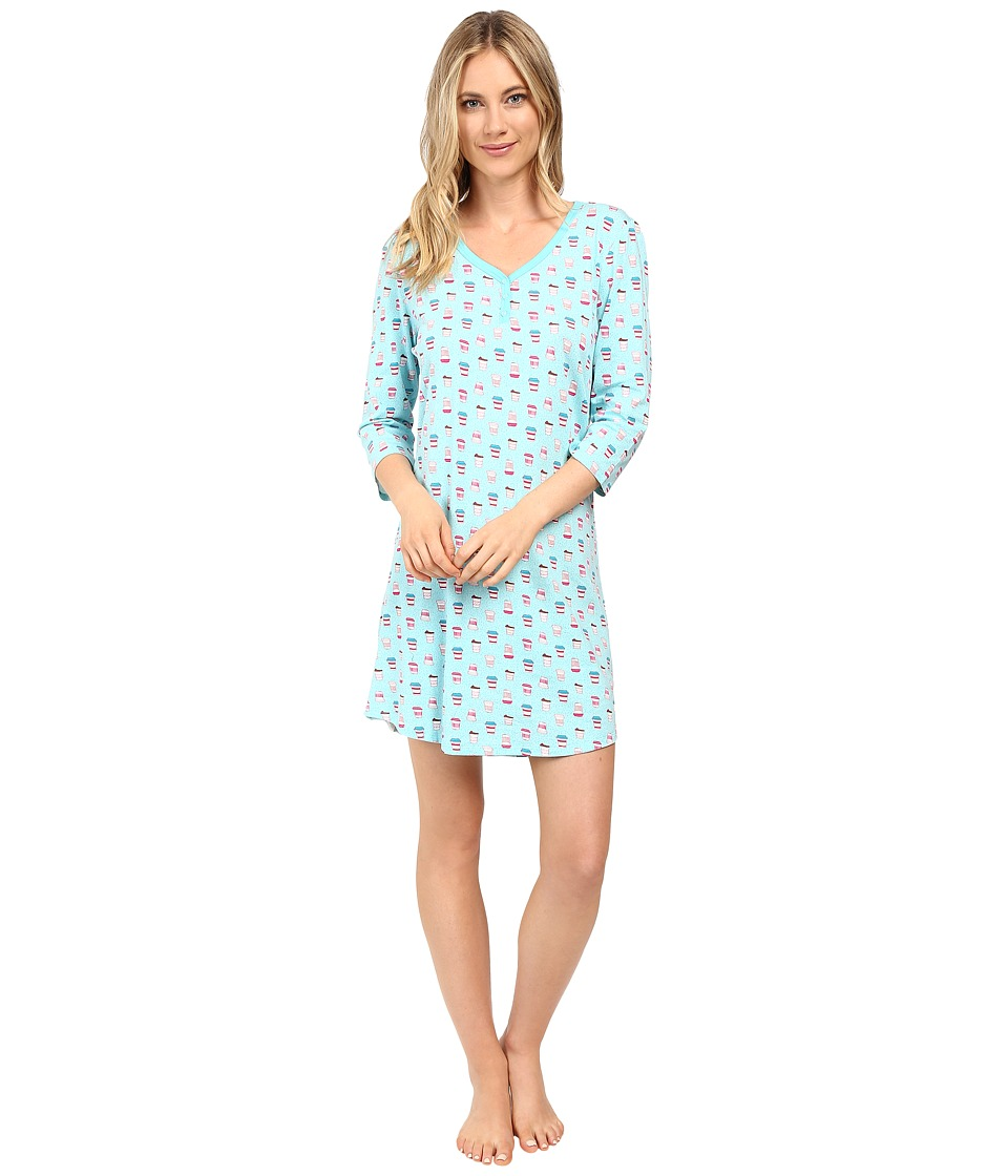 Jockey - Printed Coffee Cup Sleepshirt (Coffee To Go) Women's Pajama