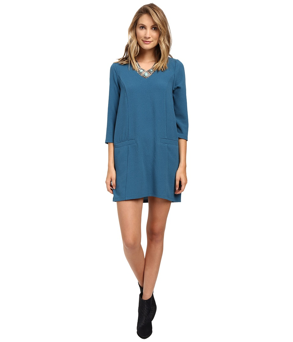 Jack by BB Dakota - Andra Dress (Peacock Blue) Women's Dress