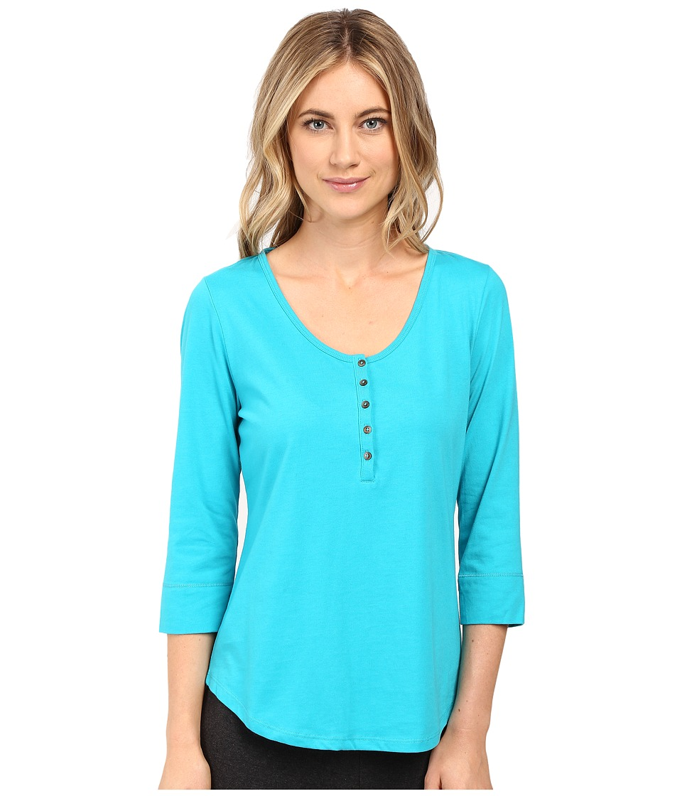 Jockey - 3/4 Sleeve Top (Nomad Turquoise) Women's Pajama