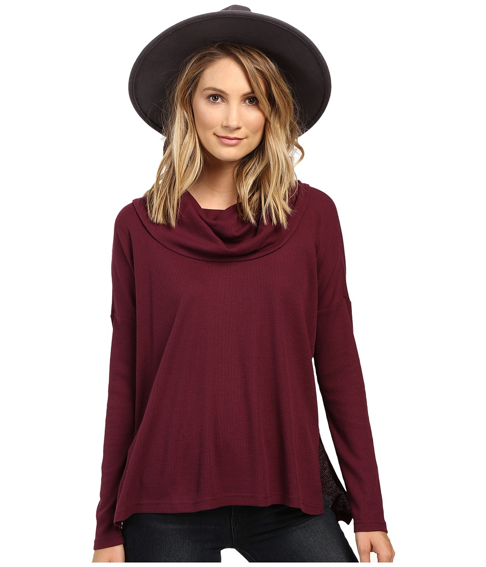 Jack by BB Dakota - Hermione Top (Dark Plum) Women's Clothing
