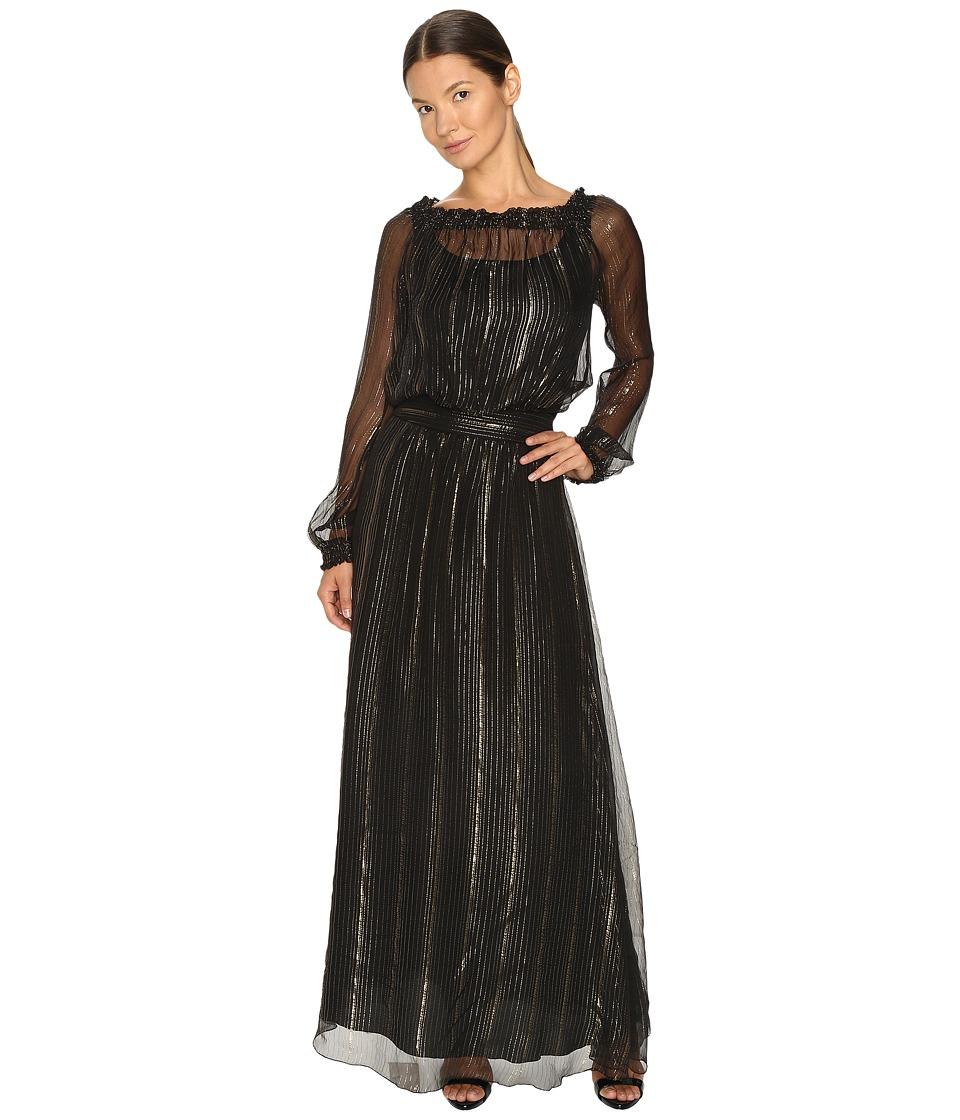 Versace Jeans Long Sleeve Gown (Nero) Women