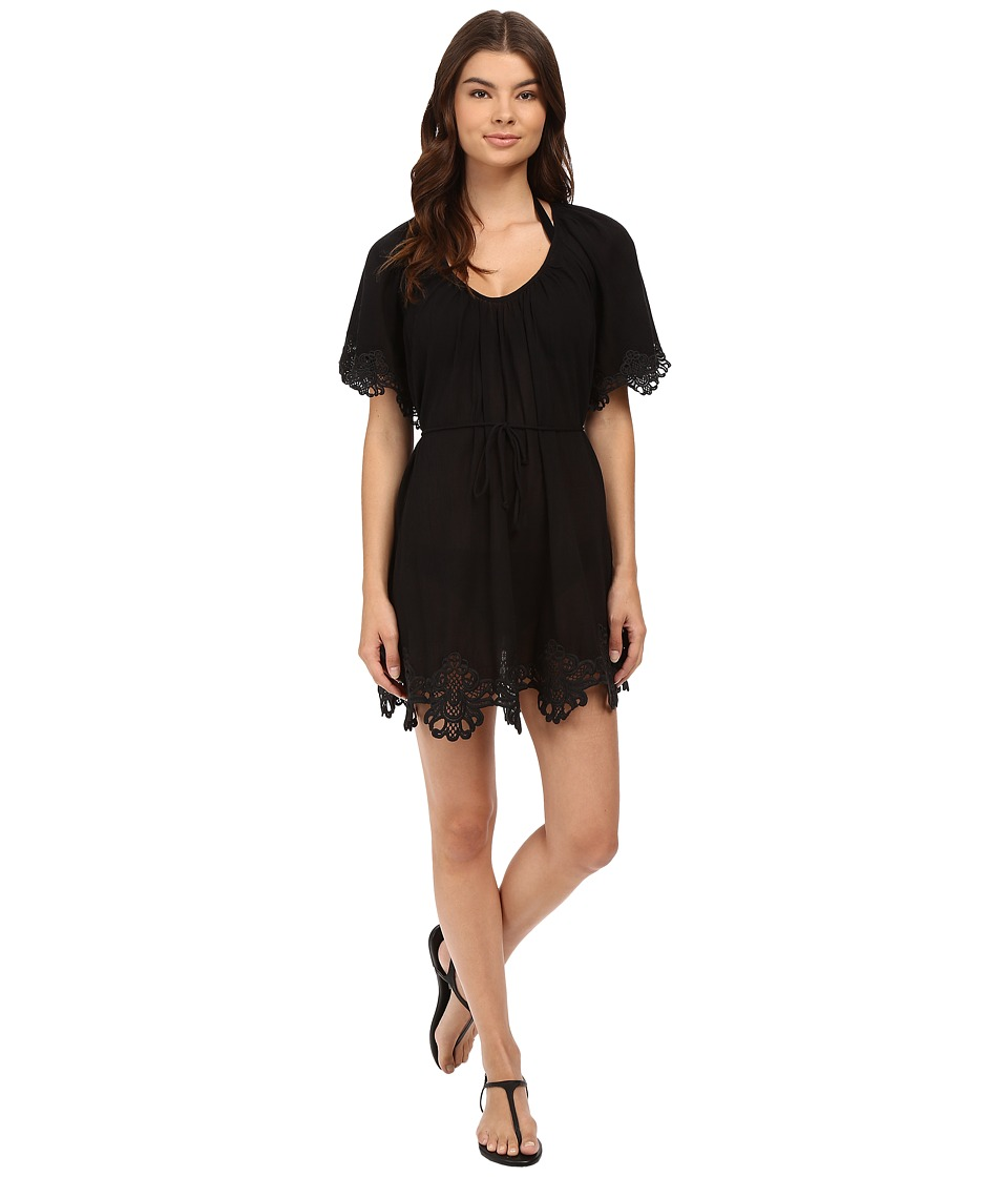 Seafolly - Beach Smock Dress Cover-Up (Black) Women's Swimwear