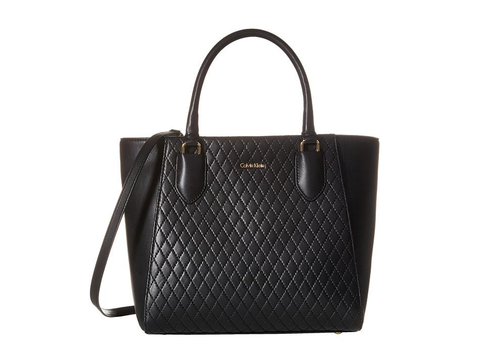 Calvin Klein - Lamb Shopper (Black/Gold) Tote Handbags