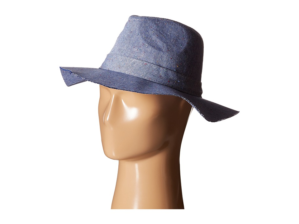 Steve Madden - Speckled Denim Cotton Floppy (Denim) Traditional Hats