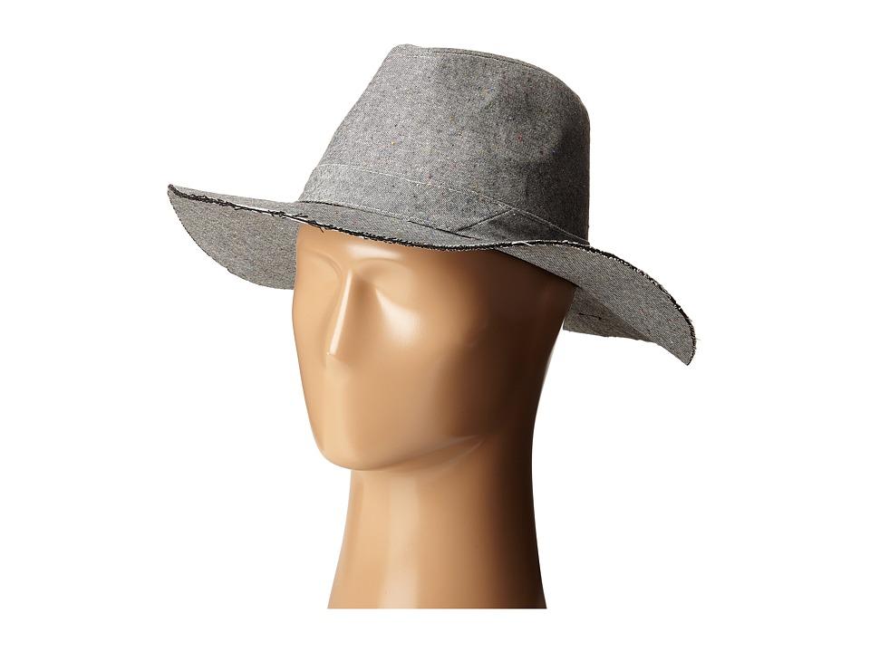 Steve Madden - Speckled Denim Cotton Floppy (Grey) Traditional Hats