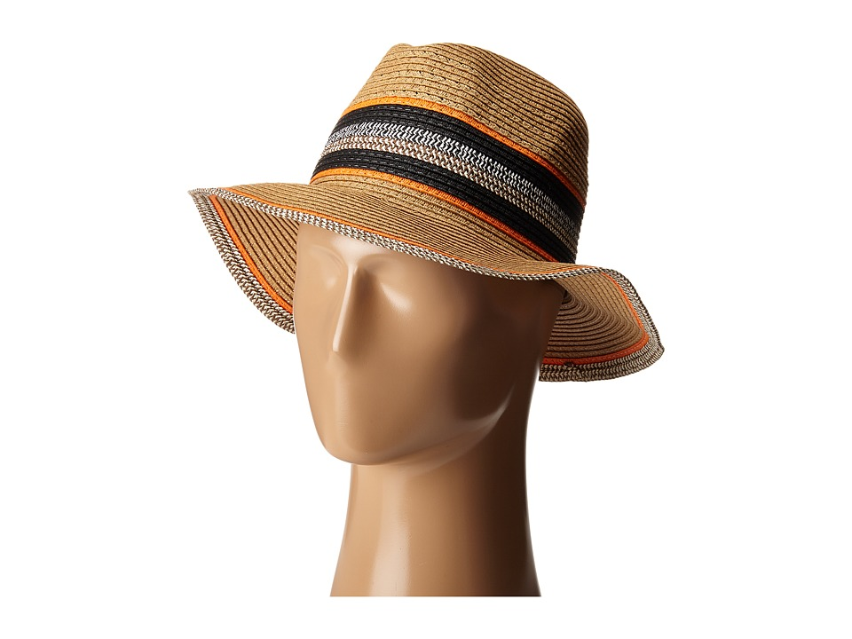 Steve Madden - Panama Hat (Orange) Traditional Hats
