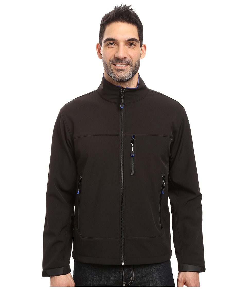 Roper - Softshell Bomber Jacket (Black) Men's Coat