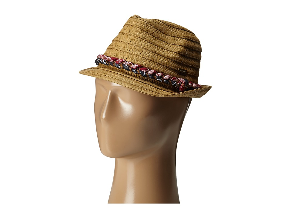 Steve Madden - Trilby with Bandana Plait Braid (Natural) Fedora Hats