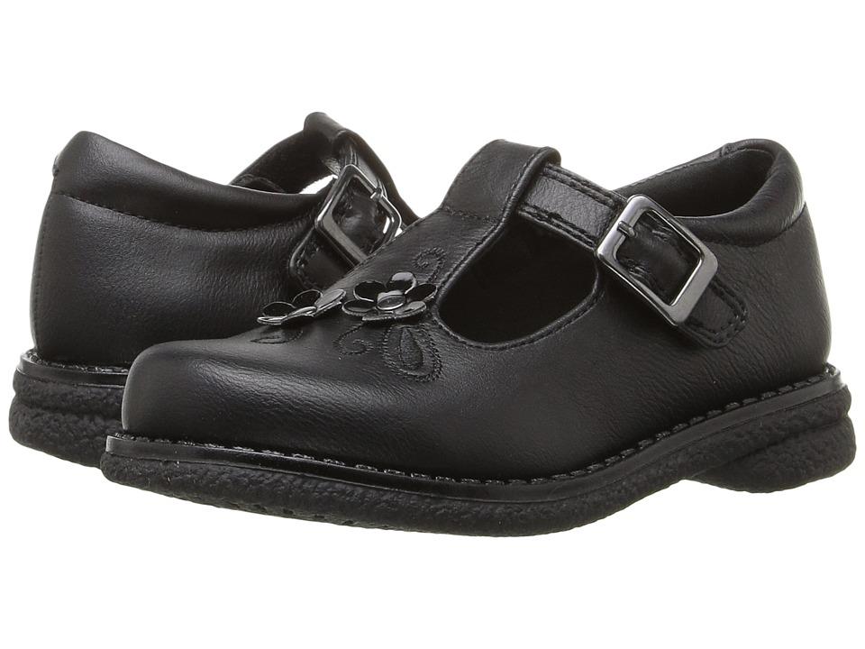 Rachel Kids - Sharon (Toddler/Little Kid) (Black Smooth) Girls Shoes