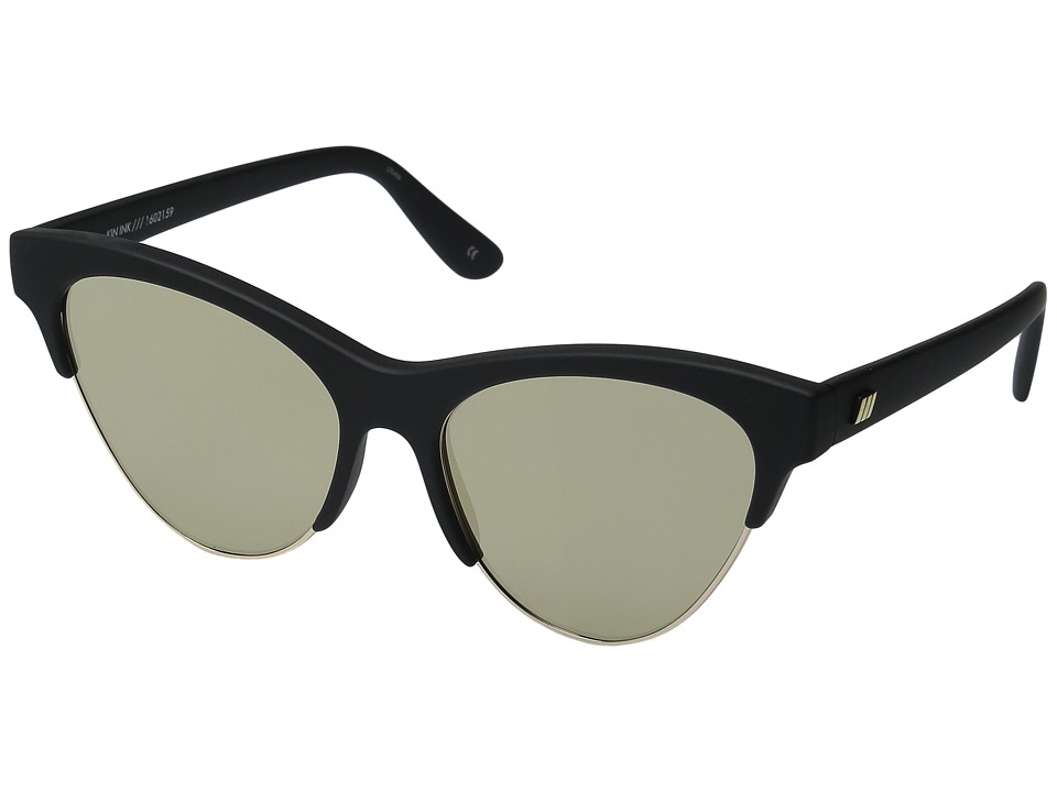 Le Specs - Kin Ink 1 (Black Rubber/Gold) Fashion Sunglasses