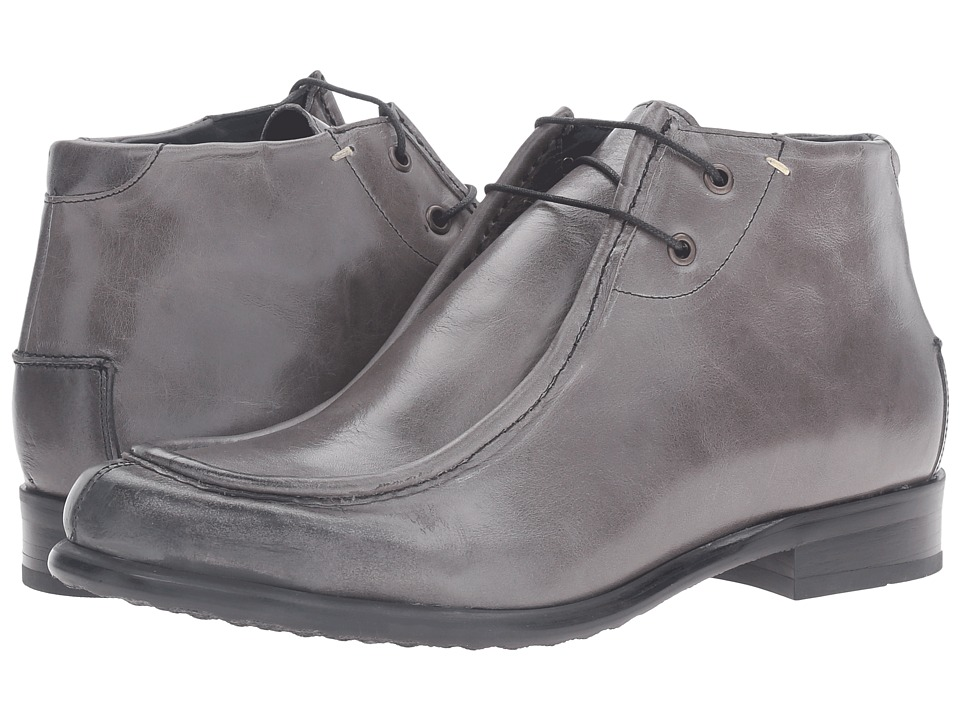 Messico - Max (Grey Leather) Men's Dress Flat Shoes
